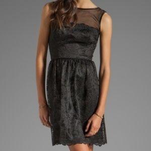 Trina Turk Black Lace Cocktail Dress